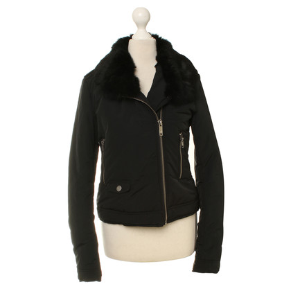 Moschino Love Short jacket with fur collar