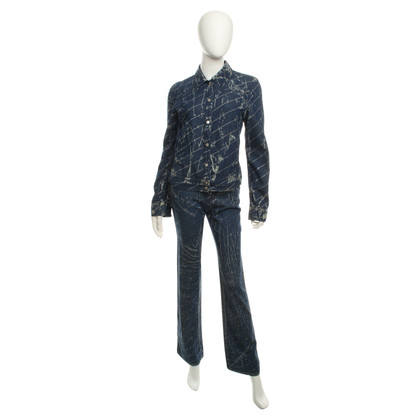 Ferre Denim suit with glitter