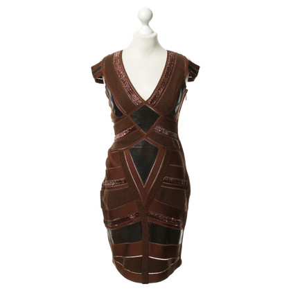 Herve Leger Dress with leather trim