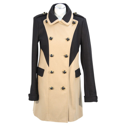 French Connection Coat in black / beige