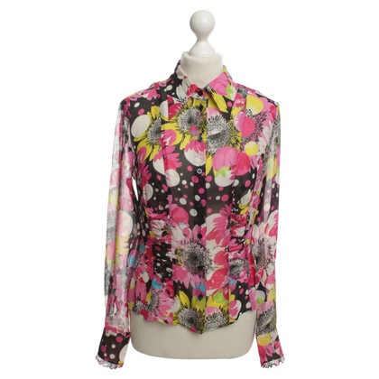 Escada Silk blouse with floral print