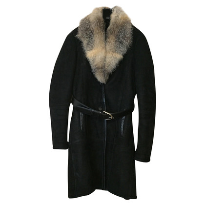 Gucci Cappotto con collo di pelliccia