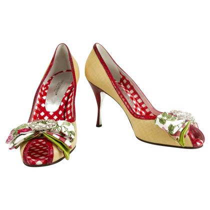 Dolce & Gabbana Beige Peep toes