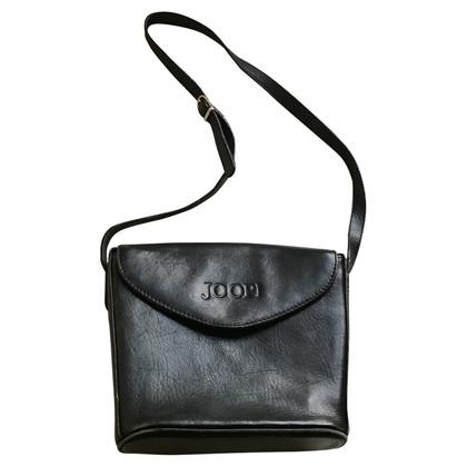JOOP! Schwarze Lederhandtasche