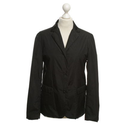 Prada Gefütterte Jacke in Schwarz
