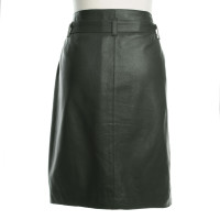 Iris von Arnim Leather skirt in green