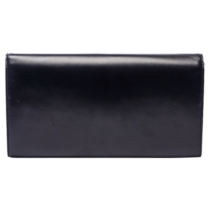Louis Vuitton Black Leather Signature Long Clutch