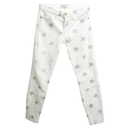 Current Elliott Jeans in het wit Star Print