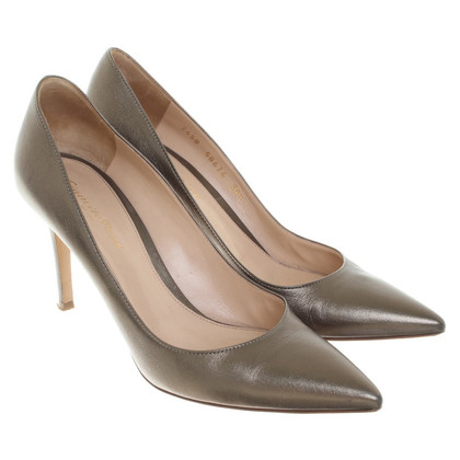 Gianvito Rossi Pumps in Metallic-Grün