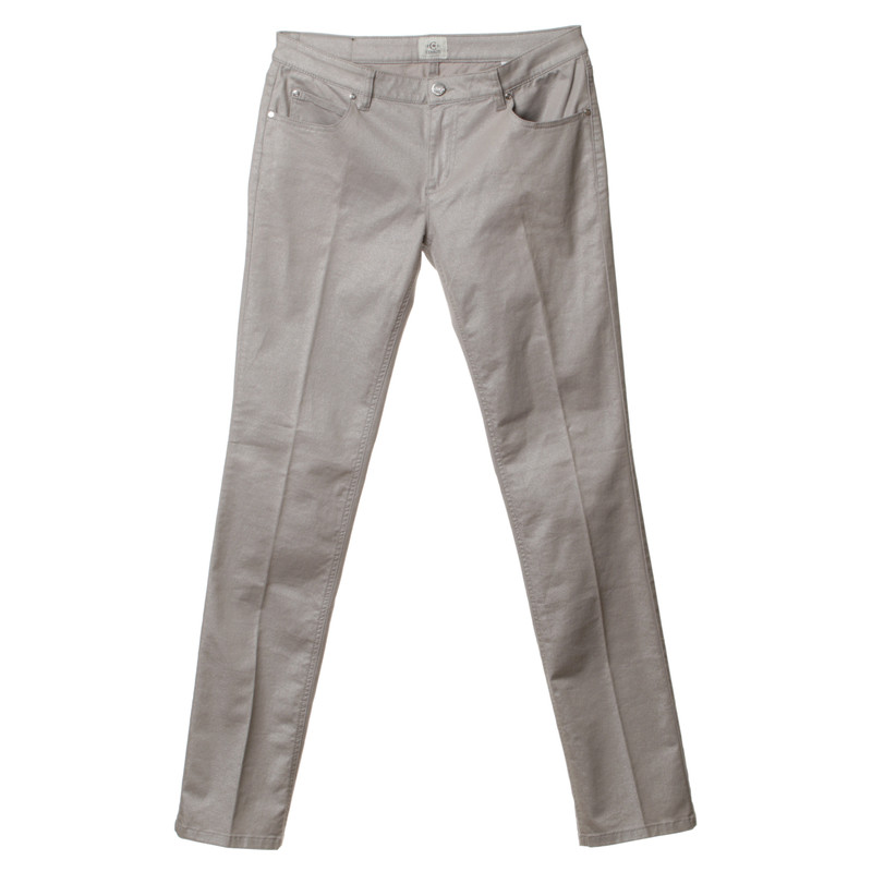 Cerruti 1881 Jeans in Silber-Metallic