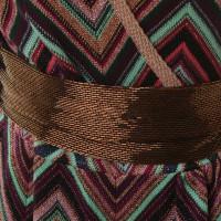Missoni Jurk wrap in metallic-look