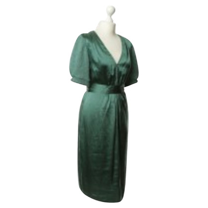Schumacher green silk dress