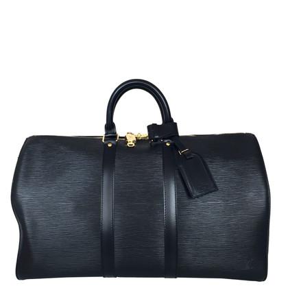 Louis Vuitton Keepall 45 Epi Leder Schwarz