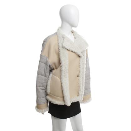 Chloé Leather jacket in beige