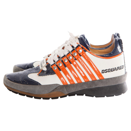 Dsquared2  Sneakers in white/blue/orange