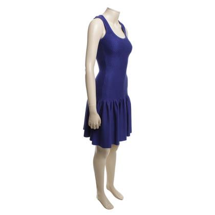 Dimitri Gebreide jurk in het blauw