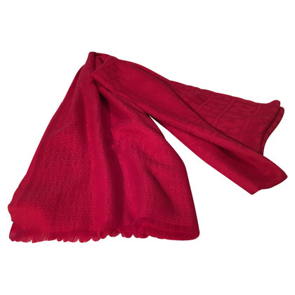 Escada Red cashmere shawl