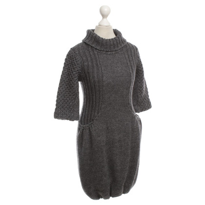 Miu Miu Turtleneck dress in grey
