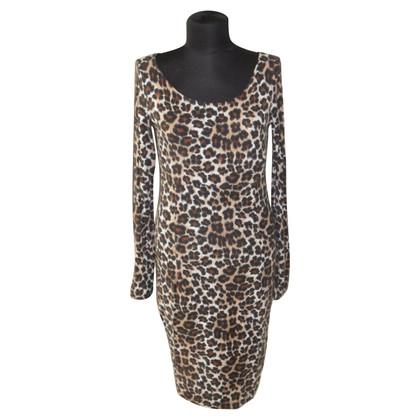 Piu & Piu Jersey dress with Leopard print