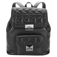 Karl Lagerfeld Karl Lagerfeld black leather backpack
