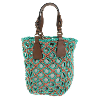 Marni Tote Bag in green / orange