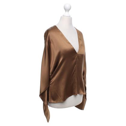Ralph Lauren Zijden blouse in oker
