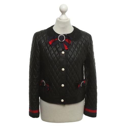 design di qualità 67d90 8e01f Gucci Giacca di pelle con spille - Second hand Gucci Giacca ...