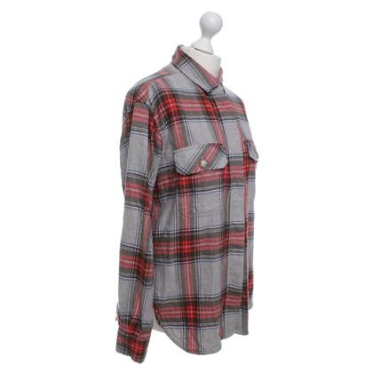 Closed Flanellen hemd met geblokt patroon