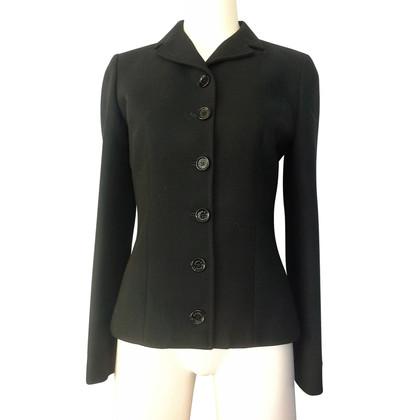 Dolce & Gabbana Zwarte wol jas