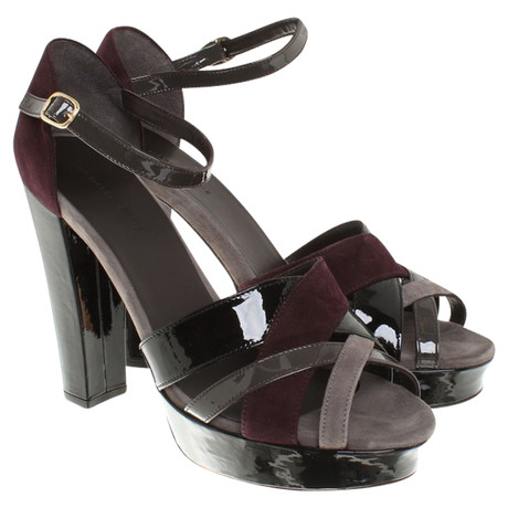 Tila March Sandaletten aus Leder Bunt / Muster