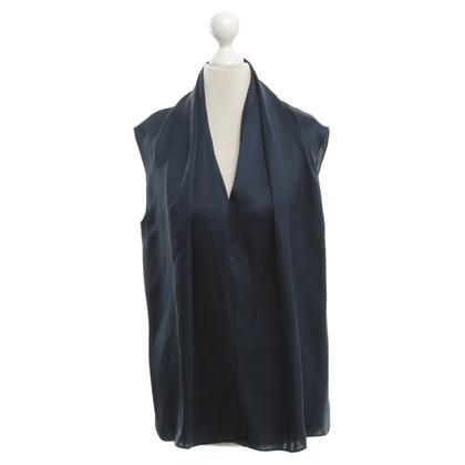 Steffen Schraut camicetta di seta in blu