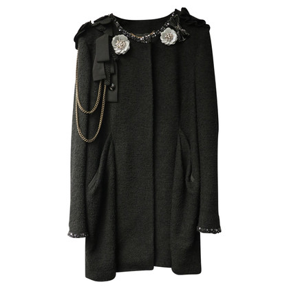 Moschino Long blazer with decorations