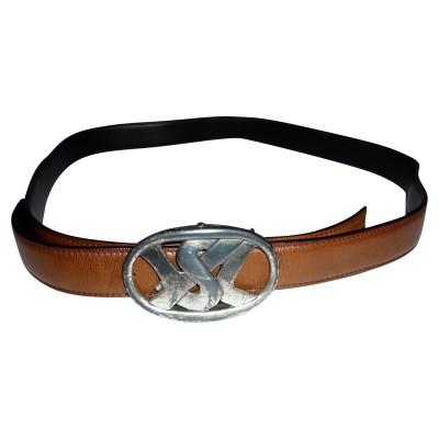 ec1f45436 Yves Saint Laurent leather belt - Second Hand Yves Saint Laurent ...