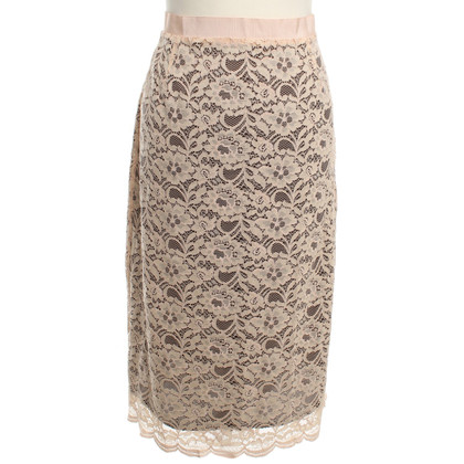 Stefanel Lace Skirt in Nude