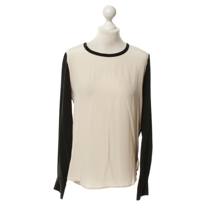 Diane von Furstenberg Silk blouse in black/cream