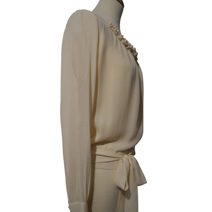 Rena Lange Silk Blouse in Beige