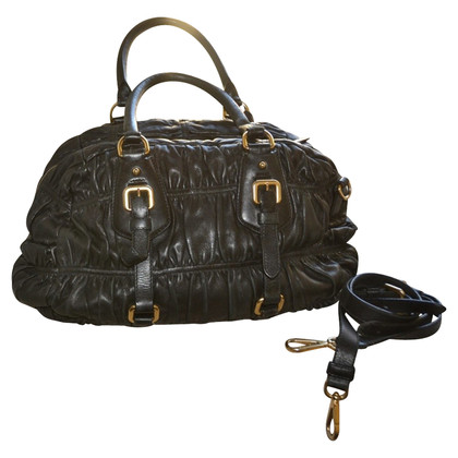 Prada leather bag with shoulder strap