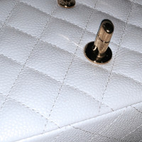 Chanel Timeless flap bag in white