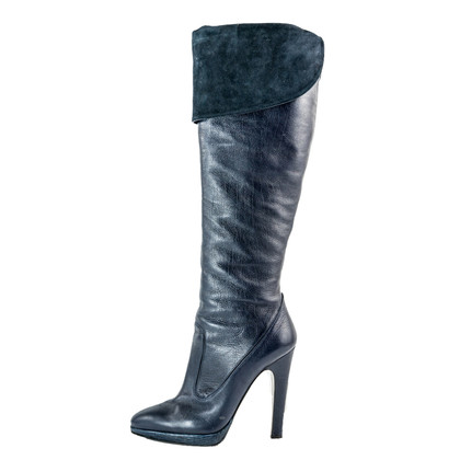 Roberto Cavalli Leather high boots
