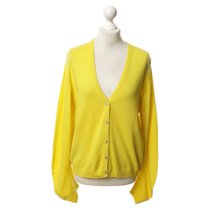 Jil Sander Cashmere Cardigan in yellow