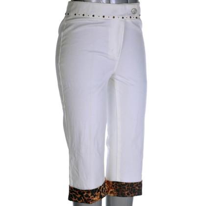 Blumarine Capri pants with animal print