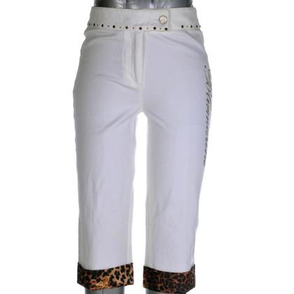 Blumarine pantaloni capri con stampa animalier