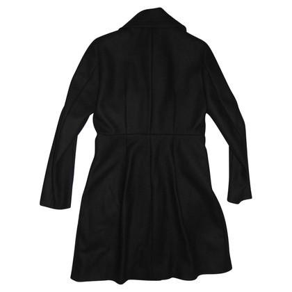 Sport Max cappotto lana, doppiopetto, nero.