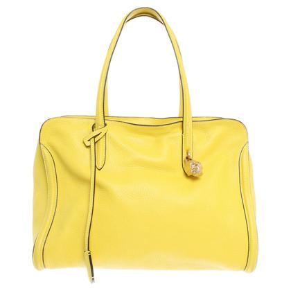 Alexander McQueen Borsa di cuoio in giallo