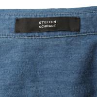 Steffen Schraut Jeanshemd mit Strass-Details
