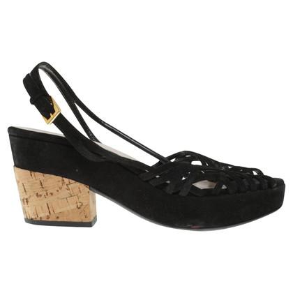 Prada Sandaletten in Schwarz