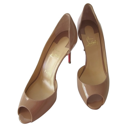 Christian Louboutin Demi You 85 Peep Toe Pumps