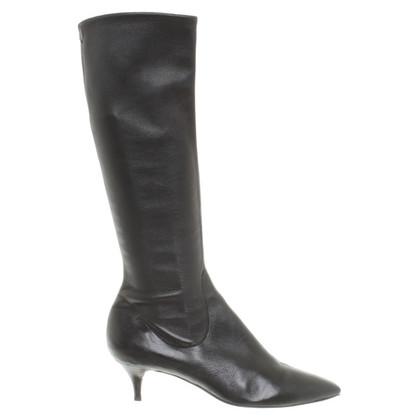 Sergio Rossi zwart lederen schoen