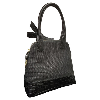 Paule Ka Dark gray leather handbag