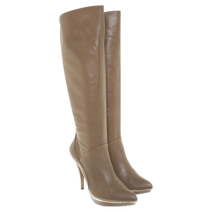 Pura Lopez Boots in Taupe